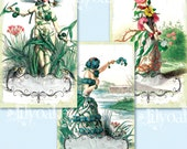 Victorian Flower Fairy Labels
