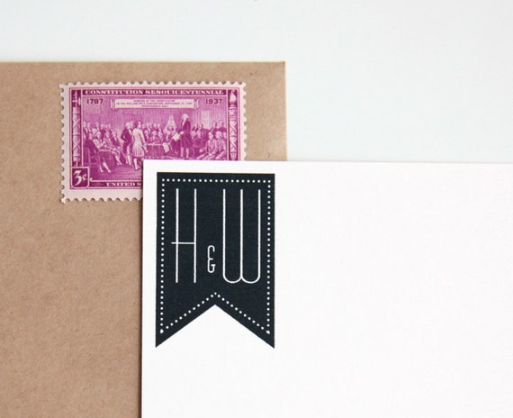 Custom Wedding Rubber Stamp Initials Or Monogram Wood