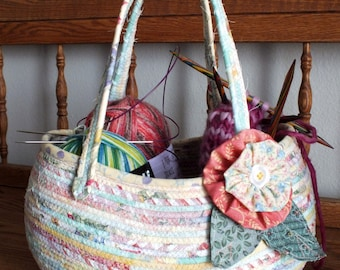 Pastel coil wrapped basket