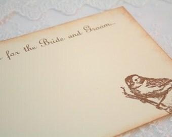 Wedding Wish Cards Guest Book Alternative - Vintage Bird