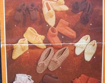 VIntage Bouquet Knit and Crochet Slipper Pattern