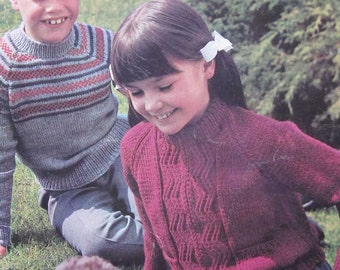 Vintage Beehive Childrens Knitting Sweater Pattern Book