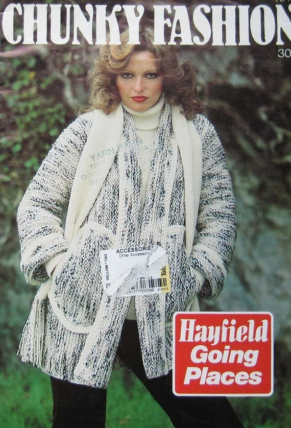 Vintage Hayfield Chunky Fashion Knitting Pattern Book