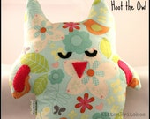 Hoot the Owl- Large blue floral