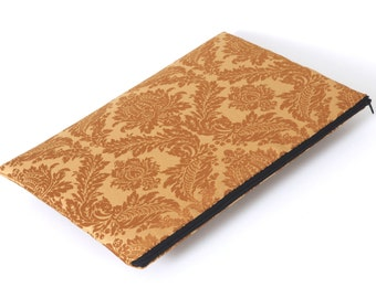 SALE! MacBook 13 Air cover case sleeve upholstery fabric gold brown ornaments