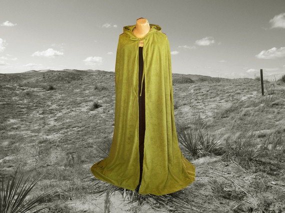 Black Hooded Cape Cloak Faux Suede Halloween Renaissance Cloak Medieval Gothic Merlin Vampire NUwbw