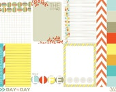 Day-to-Day printable and digital 3x4 cards for scrapbooking, Project Life, home decor projects, card making, invites and more.