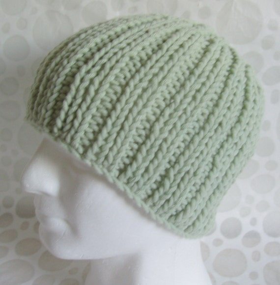 Easy Hat Knitting Patterns : KNITTING PATTERN Mans Beanie Pattern for Rustico Simple Extra