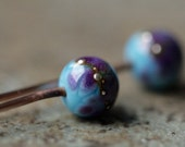 Glass Headpin Pair for Earrings or other DIY Art Jewelry