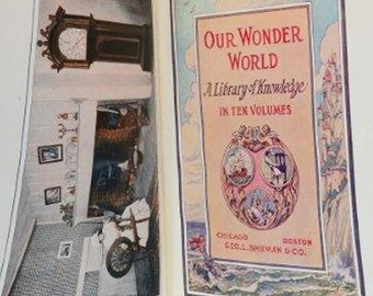 Our Wonder World Vol. 7 by Amateur Handcraft - Published by University Press -Copyright 1914 by Geo. L. Shuman & Co.