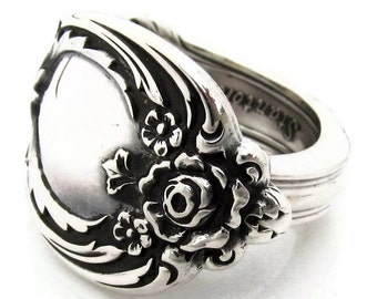 Heavy Sterling Silver Spoon Ring Stanton Hall