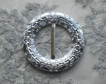 Ornate Silver Buckle Slide