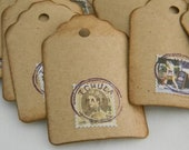 Cancelled Stamps Gift Tags