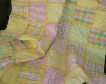Sunshine flannel lapquilt - REDUCED