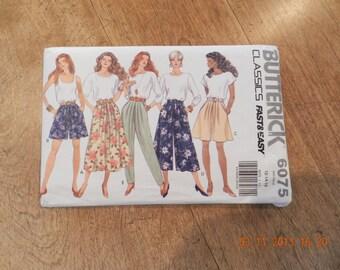 Womens Vintage Skirt, Split Skirt Culottes and Pants Pattern Uncut by Butterick 6075 Size Misses12 thru 16