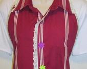 Apron, upcycled shirt