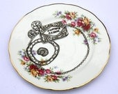 SALE 'Tempting Treats' Upcycled Floral Plate