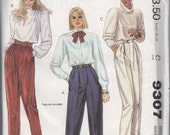 VERY RARE 1980s vintage UNCUT pattern McCalls 9307 size 16 waist 30 hips 40 Misses pants and belt