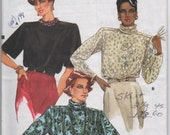 1980s vintage pattern UNCUT very easy very Vogue 9445 size 14 16 18 bust 36 38 40 waist 28 30 32 hips 38 40 42 Misses blouse 1985