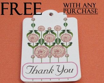 FREE  Please read description, Thank You Gift Tags with any purchase, Set of 9, code 3030-07