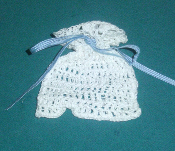 similar to Small Crochet Sachet Bag - Blue Ribbon Tie - Crochet Sachet ...