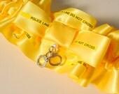 Reserve listing for Kathryn Wedding garter  POLICE LINE do not CROSS  Keepsake garter