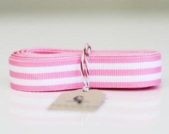 """5/8"""" Pink Candy Stripe Ribbon"""