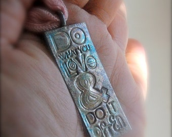 Express Yourself in Fine Silver - Passion Pendant