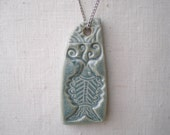 Antique Blue Fish Pendant with Chain Necklace