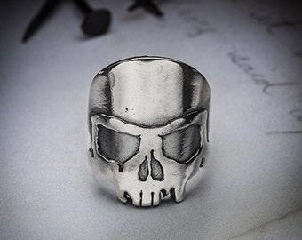 sale- RIDER SKULL silver ring