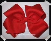 X-Large KING Size Grosgrain Hair Bow in Red