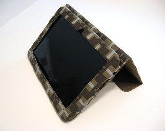 Kindle Fire HD 8.9 Cover Stand Ready to Ship in Brown oiled canvas