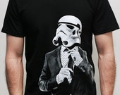 Smarttrooper -American Apparel  Mens t shirt  ( Star Wars / Storm trooper t shirt )