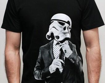 Smarttrooper -Mens t shirt  ( Star Wars / Storm trooper shirt )