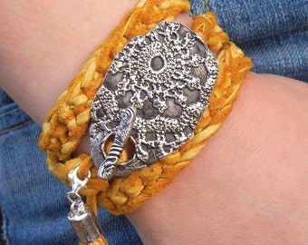 Artisan Jewelry, Artisan Silver Jewelry, Artisan Bracelet, Handmade Wrap Bracelet, Leather Wrap Bracelet, Artisan Silver Wrap Bracelet