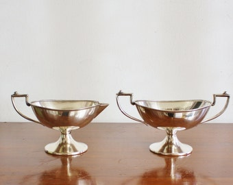 Vintage silver plated sugar and creamer set