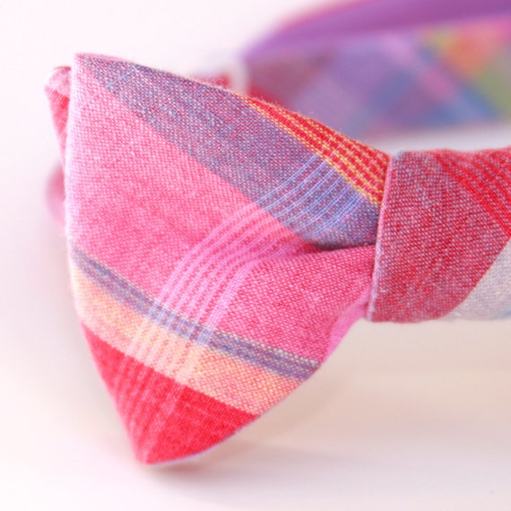 cotton candy rainbow freestyle bow tie