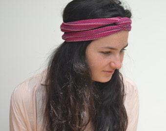 Magenta/Pink Headband/Dread Wrap