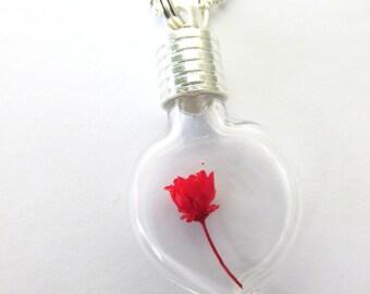 20 DIY Heart Bottle Glass Vials Pendants Necklace 28mm Charms Jewelry Craft Kit Stopper Beads  Supplies Kawaii rice Mini Miniature