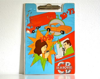 70's retro Trucker Clipboard Folder Feldco CB Radio Jamboree
