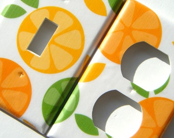 Citrus Light Switch Cover Outlet Cover Switchplate Set