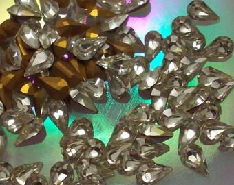6 4.8x8mm Crystal Pear Machine Cut Vintage Swarovski Article 308 Crystal Color Swarovski Pears 8x4.8mm or Swarovski 8x5mm Crystal 8x4.8mm