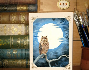 White is the Moon card by Valerie Greeley