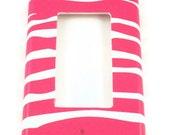 Rocker Light Switch Cover Light Switchplate Switch Plate in Funky Zebra Hot Pink (095R)