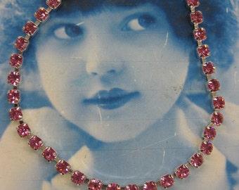 Price Slashed 50% Rhinestone Bracelet Pink Crystals 2226PNK x1