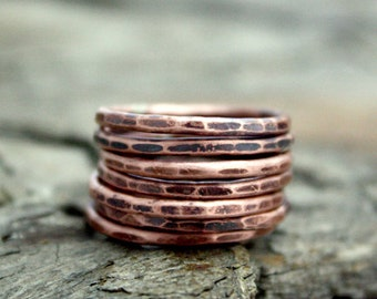 7 Lucky Copper Rings