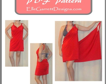 PDF Pattern - Simple Beach Cover-Up Pattern 501 - Sizes small-large - Super Simple Pattern