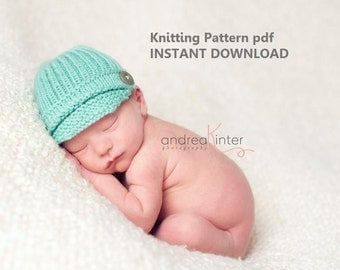 Ribbed Newsboy Hat Knitting Pattern in 5 Sizes, PDF Number 131 -- Instand Download -- Permission to Sell Hats -- Over 15,000 patterns sold