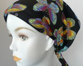 Colorful Butterfly Hair Loss Cancer Hat Cap Head Wrap Alopecia Bad Hair Day