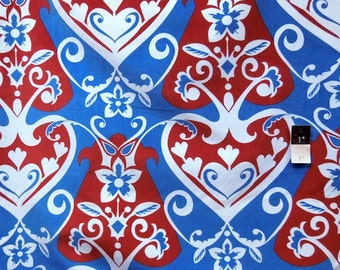 Anna Maria Horner VVAH04 Innocent Crush Queen Of Hearts Royal Cotton VELVETEEN Fabric 1 Yard